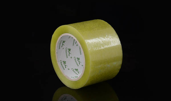 1cm肉厚偏绿透明封箱胶带